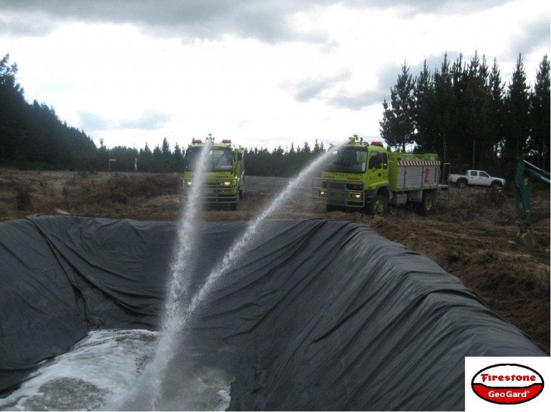 Строительство пожарного водоема